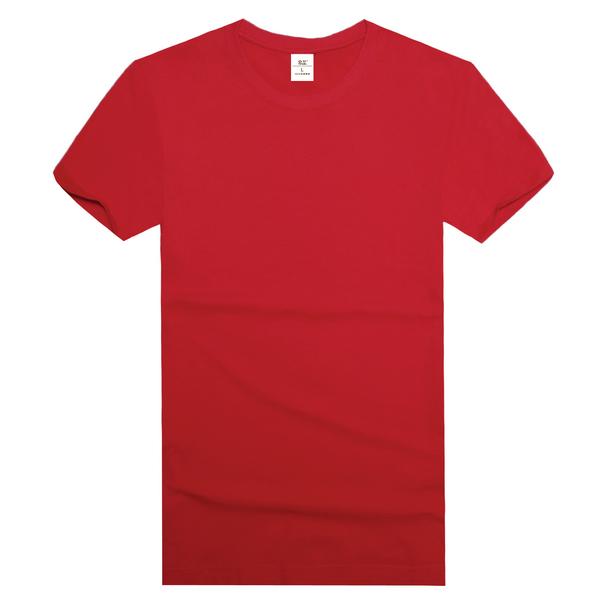 纯棉精梳文化衫  红色