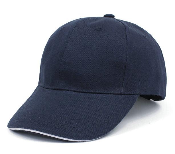 最新款藏蓝色广告帽纯棉