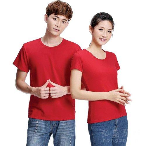 高品质加厚纯棉精梳圆领t恤
