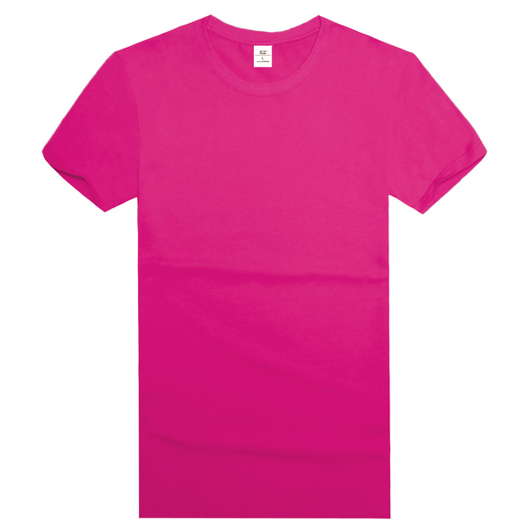 纯棉精梳t恤衫  玫红
