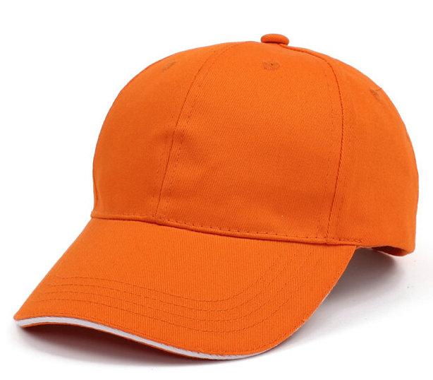 新款现货纯棉桔色太阳帽
