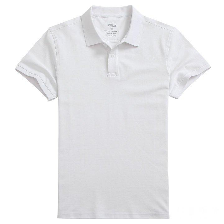 白色 莱卡棉polo衫可印字