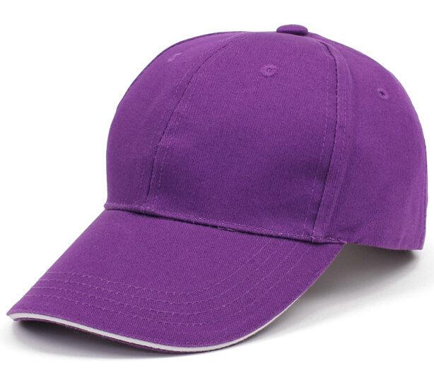 印刷图案广告促销棒球帽紫色