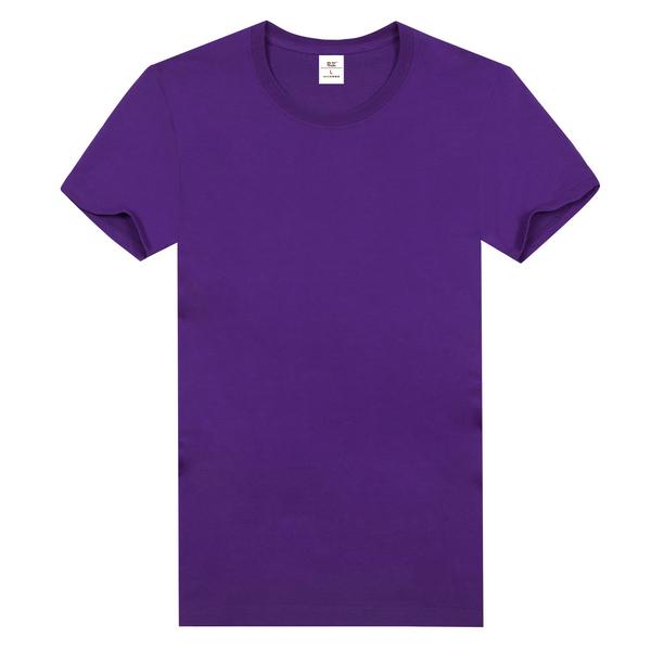 纯棉精梳t恤衫  紫色