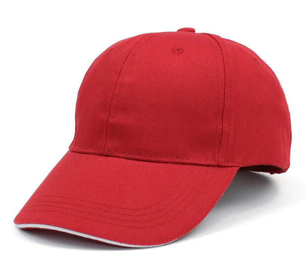 中国红广告帽鸭舌帽棒球帽纯
