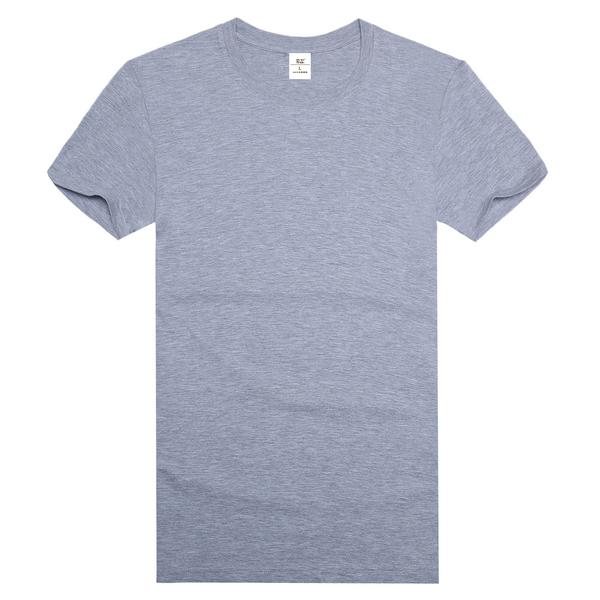 纯棉精梳文化衫  灰色