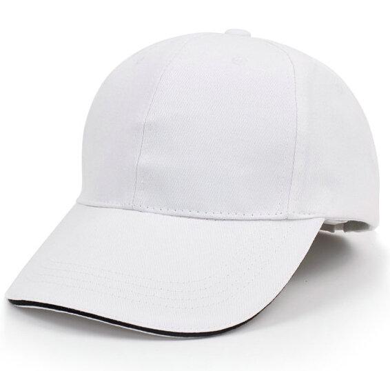 纯棉时尚新款太阳帽白色可印